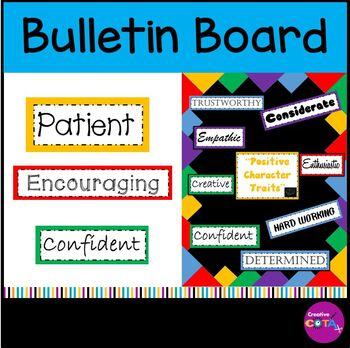 Positive Character Traits Bulletin Board