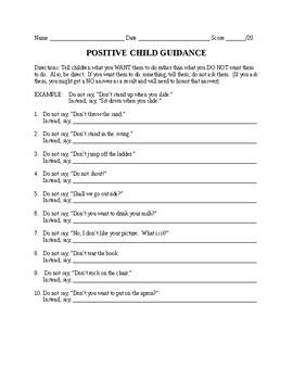 Positive Child Guidance