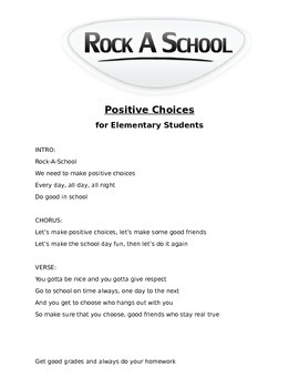 Positive Choices Rap for Elementary Students