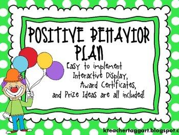 Positive Class Behavior Plan