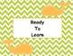 Positive Classroom Behavior Chart- Preppy Themed