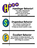 Positive Classroom Behavior Plan Poster (Uses Clothespins) .pdf version