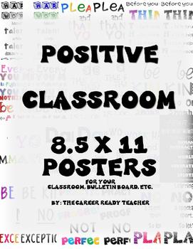 Positive Classroom Bulletin Board Poster Set