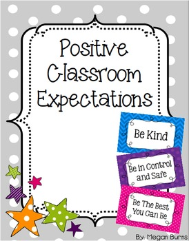 Positive Classroom Expectations