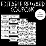 Positive Classroom Management Reward Coupons - Black&White