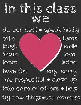 Positive Classroom Messages