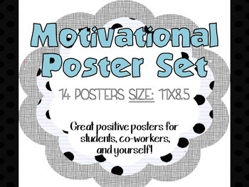 Positive Classroom Motivational Posters