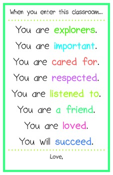 Positive Classroom Poster