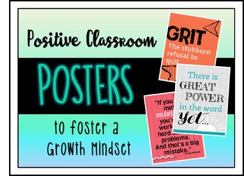 Positive Classroom Posters to Foster a Growth Mindset - Bright