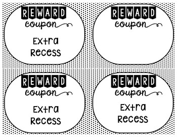 Positive Classroom Reward Coupons