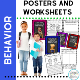 Positive Behavior Classroom Rule Posters,Worksheets and Ta