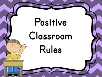 Classroom Rules {Traditional, Classic and Measurable}
