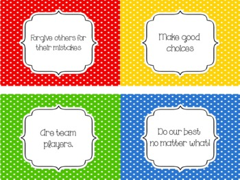 Positive Classroom Rules Set