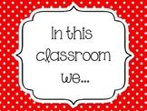 Positive Classroom Rules Set