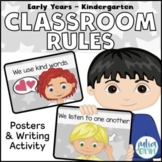 Positive Classroom Rules - (grey background)