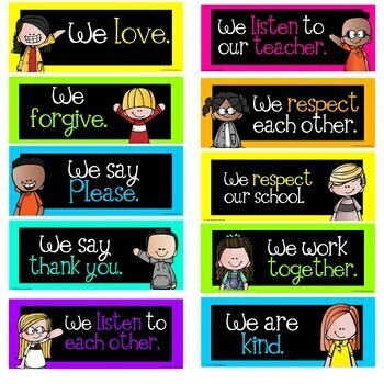 Bright Positive Classroom Statements Black and Neon