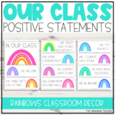 Positive 'In Our Class' Display | Dotted Rainbows Classroom Decor