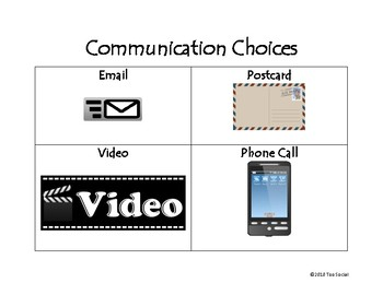 Positive Communication Choice Board