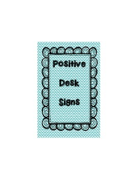 Positive Desk Signs - PBIS
