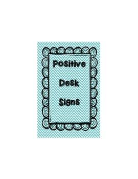 Positive Desk Signs - PBIS