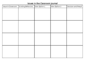 Positive Discipline Teacher Journal
