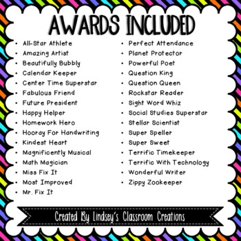 EDITABLE End of the Year Awards - Positive Awards For Boys & Girls + Blacklines!