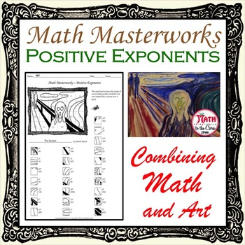 Positive Exponents - Math Masterworks Coloring