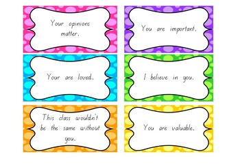 Positive Feedback Cards