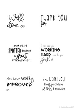 Positive Feedback Printable Post It Notes By Chalk And