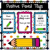 Gift Tags| Pencil theme| Testing Motivation, Positive Behavior
