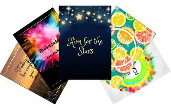 Positive Growth Mindset Motivational Poster Bundle (13 posters)