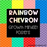 Positive Growth Mindset Posters (Rainbow Chevron)