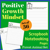 Positive Growth Mindset Scrapbook / Notebooking Set - Wood