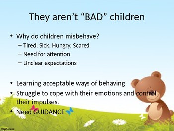 Positive Guidance (Discipline) Power Point Notes for Early Childhood