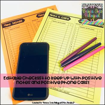 Positive Home Notes ENGL & SPAN