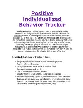 Positive Individualized Behavior Tracker
