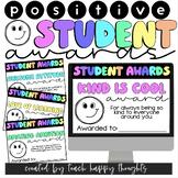 Positive & Kind Awards for Students on Google Slides   End
