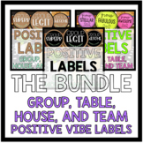 Positive Labels for Groups, Teams, Tables, or Houses THE BUNDLE