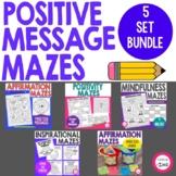 Positive Message Affirmation Maze Activity Bundle - Printa