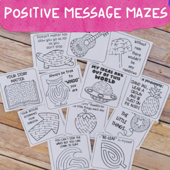Positive Message Affirmation Maze Cards