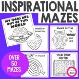Positive Message Affirmation Maze Cards- Inspirational Maze Cards