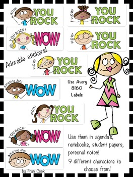 Positive Message Stickers Set 1
