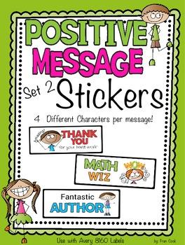 Positive Message Stickers Set 2