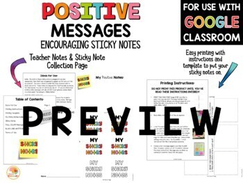 Positive Messages On Sticky Notes For Lower Grades By