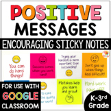 Positive Messages on Sticky Notes for Lower Grades