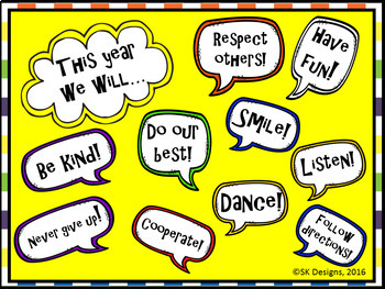 Positive Mind Sets, Behaviors, Character, Rules, Fun Bulletin Board Printables