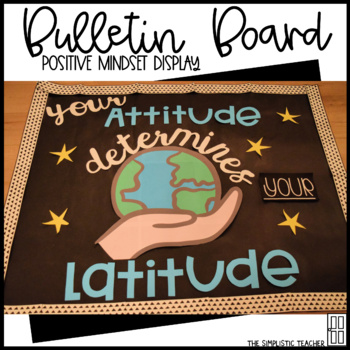 Positive Mindset Attitude Bulletin Board, Door Decor, or Poster