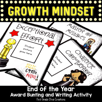 End of the Year Growth Mindset Award Bunting~Hollywood Themed