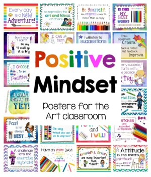 Positive Mindset Posters for the Art Classroom