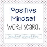 Positive Mindset Word Search